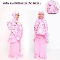 Gratis Ongkir Pusat Grosir Mukena Anak Unicorn Pink (Tas Ransel) Xl