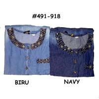 Belle Fashion Baju Blouse Tunik Jeans Size Jumbo XL Fashion Muslim