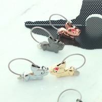 Couple Keychain - Gantungan kunci lucu dari besi (Cat)