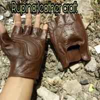 Sarung tangan motor moge half kulit asli vespa matic