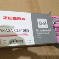 Zebra Sarasa Clip JAPAN 0.5 Gel Ink Rollerball / Pulpen Gel Pink