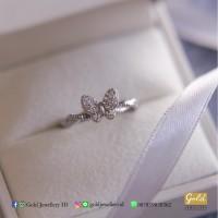 Cincin eleztra butterfly emas putih kadar 750 75%