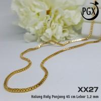 XX27 Kalung Italy Xuping Yaxiya - Perhiasan Lapis Emas 18K