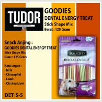 SNACK MAKANAN Anjing GOODIES DENTAL ENERGY STICK MIX ASSORTED 125 g
