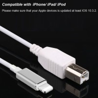 Lightning to MIDI Cable, USB 2.0 Kabel Lightning High Speed Cord