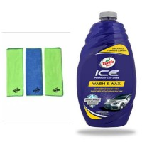 Turtle Wax - BUNDLE Ice Car Wash 1.42l - Microfiber Clean&Shine (3pc)