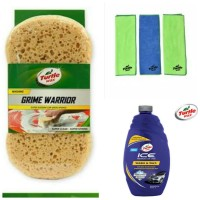 Turtle Wax-BUNDLE Ice Car Wash-Microfiber Clean&Shine-Grime Sponge