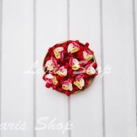 Bunga Pita Mawar Kecil 3 Kuntum Bahan Bros SF109