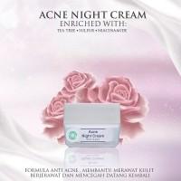 MS Glow Acne Night Cream - Krim Wajah by Cantikskincare Original