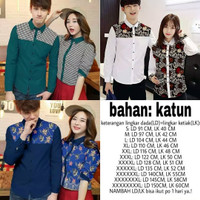 Couple kemeja batik suami istri jumbo Bigsize murah