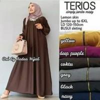 Terios Dress Jumbo Polos Busui Jersey Muslim Gamis Big Size Murah