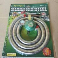 Selang Paket Regulator Win Gas Stainless Steel