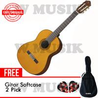 Yamaha Gitar Akustik C80 / C-80 / C 80 - Natural + Softcase + 2 Pick