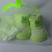 Mitten Carter-Kaos Kaki plus sarung tangan motif Keropi/Kodok