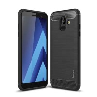 Case Samsung Galaxy A6 Plus 2018 Ipaky Carbon Soft Series Hitam