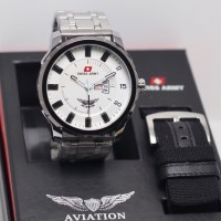 jam tangan SWISS ARMY AVIATION SET PRIA MAN STYLE