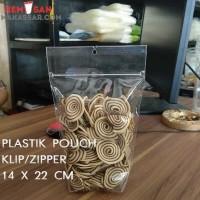 Plastik Standing Pouch Zipper 14 X 22 cm Seal Kecil