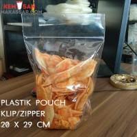 Plastik Standing Pouch Zipper 20 X 29 cm Seal Kecil