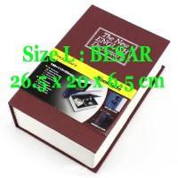 Brankas Bentuk Buku / Security Dictionary Cash Metal Jewelry / Besar