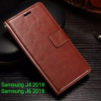 FLIP COVER WALLET case Samsung J4 - J6 2018 casing hp leather dompet