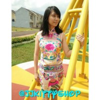 Baju Cheongsam Sangjit Flower Dress