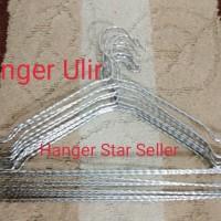 Hanger Ulir Import Gantungan Baju