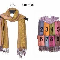 Pashmina / Scarf / Syal / Shawl Motif STB - 05 Impor
