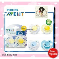 Empeng AVENT Night Time Soother 0-6m & 6-18m Isi 2 pacifier soother