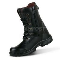 Sepatu PDL Tactical TNI-POLRI pria premium full up kulit best seller - Hitam, 39