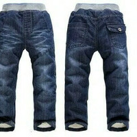 celana jeans anak winter 7 - 9 th