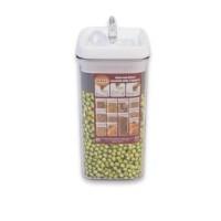 Storage Jar Clear 1200 ml Flip Tite Toples Kue Snack Makanan Ringan