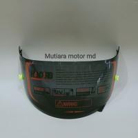 Paket kaca helm flat/ Paket visor flat tear off post kyt rc7 r10 k2r