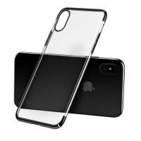 iPhone X Softcase Case Black Electroplated Ultra Thin Shock Absorption