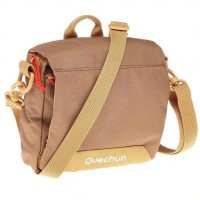 Tas Selempang Travel Pouch Quechua Brown Original Import