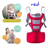 Gendongan Bayi 6 in 1 Super Hipseat Baby Carrier Snuggle Crown