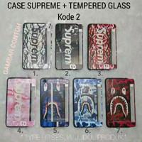 CASE SUPREME BAPE BRANDED+ TEMPERED GLASS REDMI NOTE 5 PRO