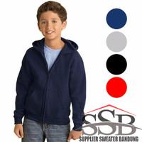 Jaket - Hoodie - Zipper - Sweater - Anak - Polos Laki-Laki / Perempuan