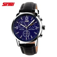 Jam Tangan Pria / Wanita / SKMEI 9070 Leather / Jam Tangan SKMEI