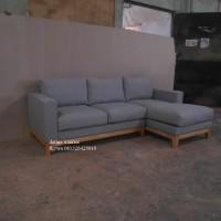 sofa L ruang tamu furniture mebel jepara