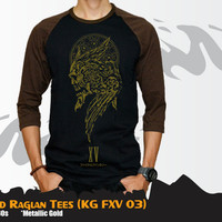 Kaos Anime Game Final Fantasi XV Gold Long Sleeve Tees - KG FXV 03