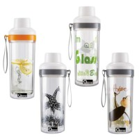 Oxone Double Wall Glass Travel Botol Free Bpa Ox-32M Murah