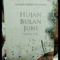 Promo Super ! Novel Hujan Bulan Juni