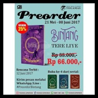 Best Seller ! Bintang - Tere Liye (Original)