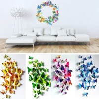 [V1] Stiker 3D Butterfly 12pc Kupu Hiasan Dekorasi Stiker Dinding Wall