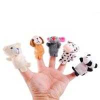 Mainan Edukasi Boneka Jari Binatang darat 10pcs