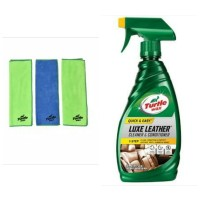 Turtle Wax-BUNDLE Luxe Leather Cleaner&Conditioner- Microfiber lap