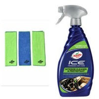 Turtle Wax - BUNDLE Ice Interior Cleaner&Protectant-Microfiber Lap
