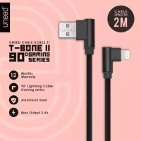 UNEED KABEL DATA CHARGER IPHONE 2 METER 5 6 7 6S 5S 8 PLUS X IPAD 2M