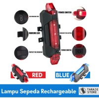 Rechargeable USB Bicycle Light - Lampu Sepeda Led