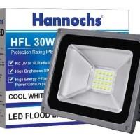 Lampu Led Sorot Hannochs HFL 30 W super bright white dan warm white